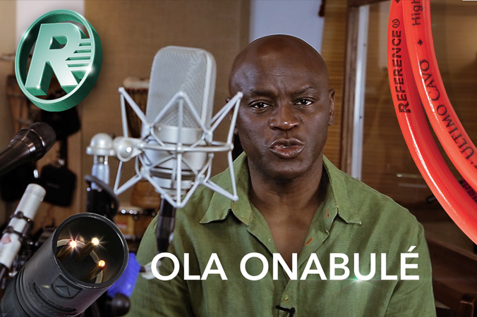 OLA ONABULÉ TALKS ABOUT REFERENCE MICROPHONE CABLES