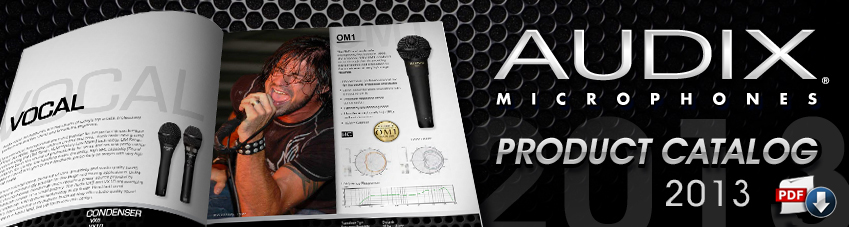 Audix product catalog 2013
