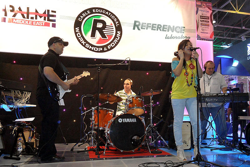Red & his band @ PALME Middle East 2011...